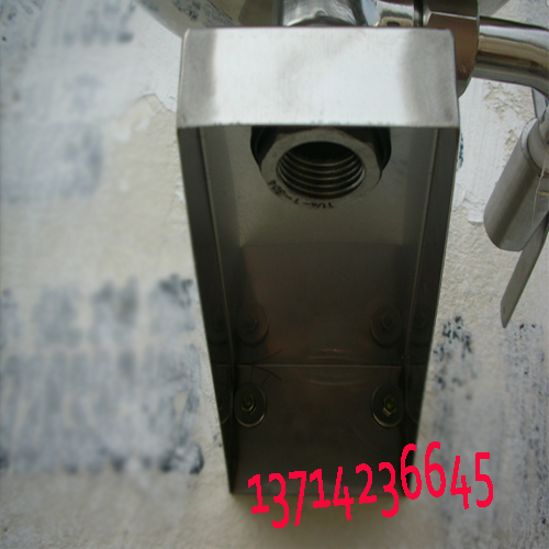 广东双口壁挂式洗眼器 304不锈钢大盆验厂洗眼器 广州挂壁冲眼机